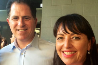 Catriona_Pollard_with_Michael_Dell,_CEO_and_founder_of_Dell_Computers
